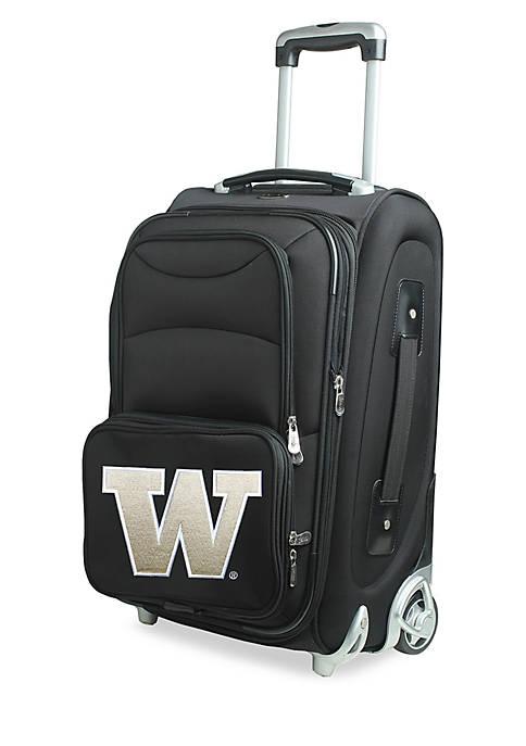 Denco NCAA Washington Luggage Carry-On Rolling Softside Nylon