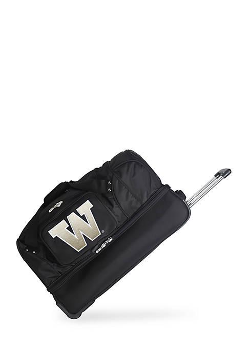 NCAA Washington Wheeled Duffel Nylon Bag