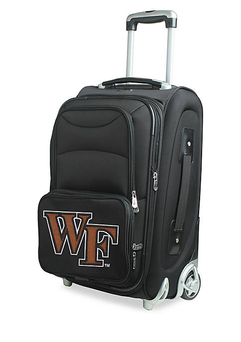 Denco NCAA Wake Forest Luggage Carry-On Rolling Softside