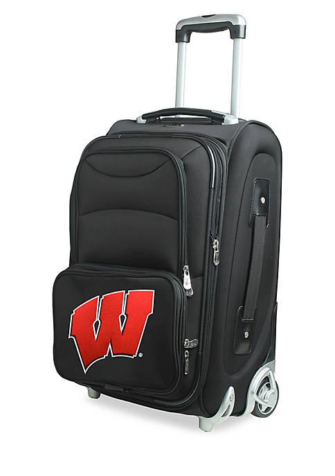 NCAA Wisconsin Luggage Carry-On Rolling Softside Nylon Bag
