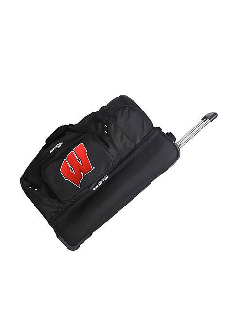 NCAA Wisconsin Wheeled Duffel Nylon Bag