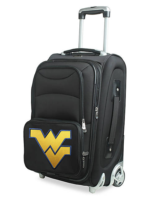 Denco NCAA West Virginia Luggage Carry-On Rolling Softside