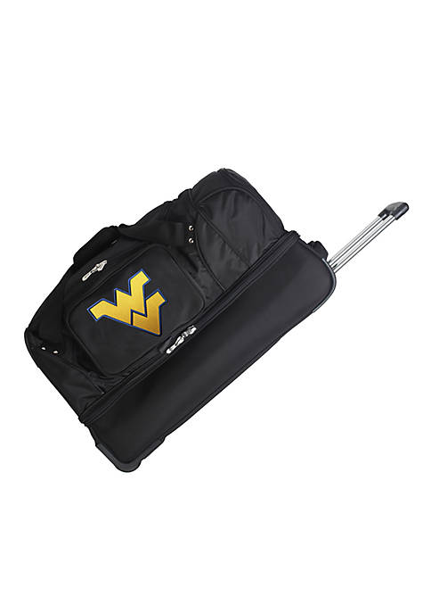 NCAA West Virginia Wheeled Duffel Nylon Bag
