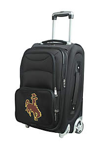 Denco NCAA Wyoming Luggage Carry-On 21-in. Rolling Softside Nylon in Black