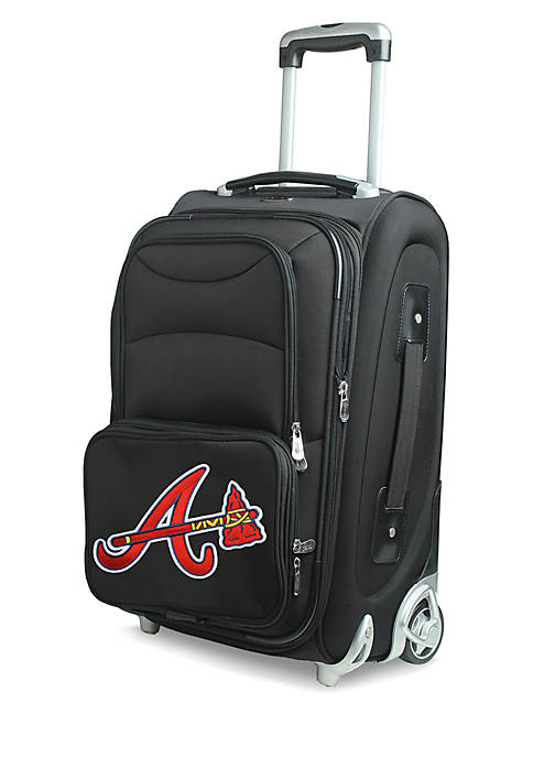 MLB Atlanta Braves  Luggage Carry-On Rolling Softside Nylon Bag