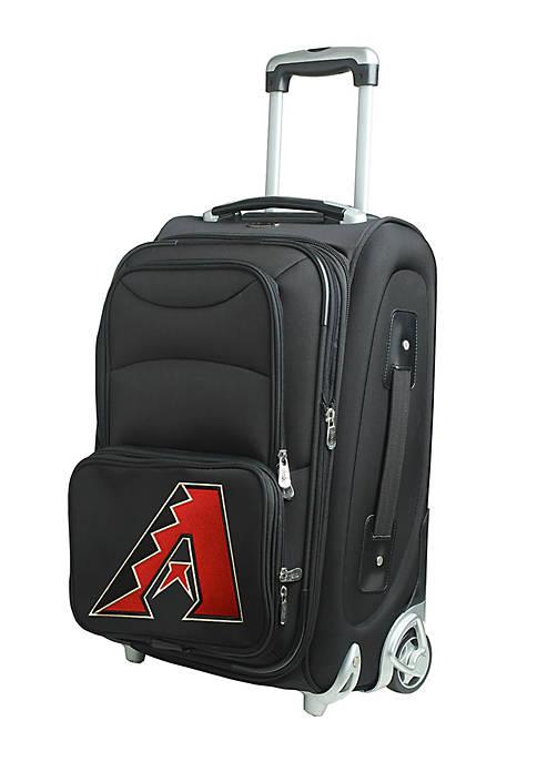 Denco MLB Arizona Diamondbacks Luggage Carry-On Rolling Softside