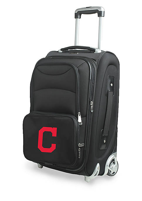 Denco MLB Cleveland Indians Luggage Carry-On Rolling Softside