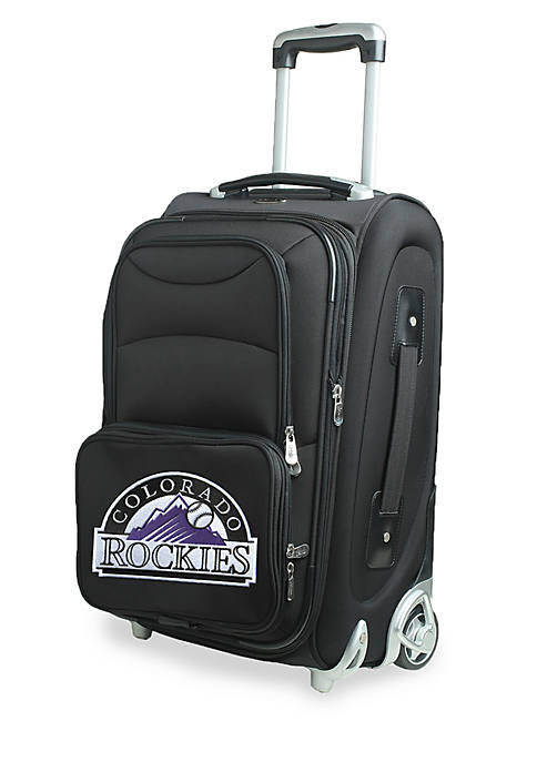 Denco MLB Colorado Rockies Luggage Carry-On Rolling Softside