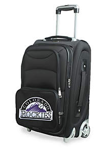 MLB Colorado Rockies  Luggage Carry-On Rolling Softside Nylon Bag