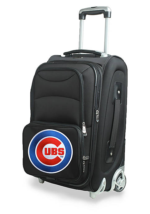 Denco MLB Chicago Cubs Luggage Carry-On Rolling Softside