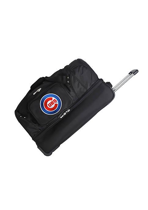Denco MLB Chicago Cubs Wheeled Duffel Nylon Bag
