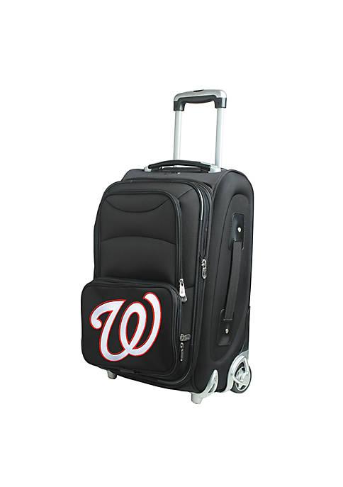 Denco MLB Washington Nationals Luggage Carry-On Rolling Softside