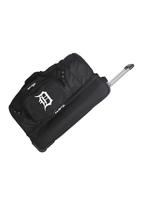 MLB Detroit Tigers Wheeled Duffel Nylon Bag