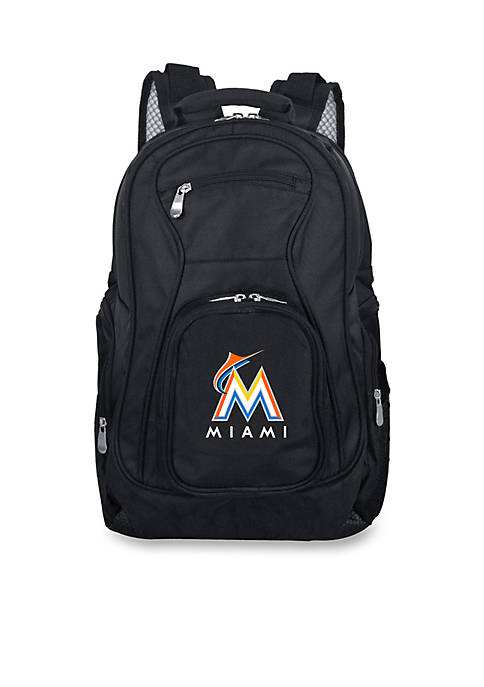 Denco Miami Marlins Premium 19-in. Laptop Backpack