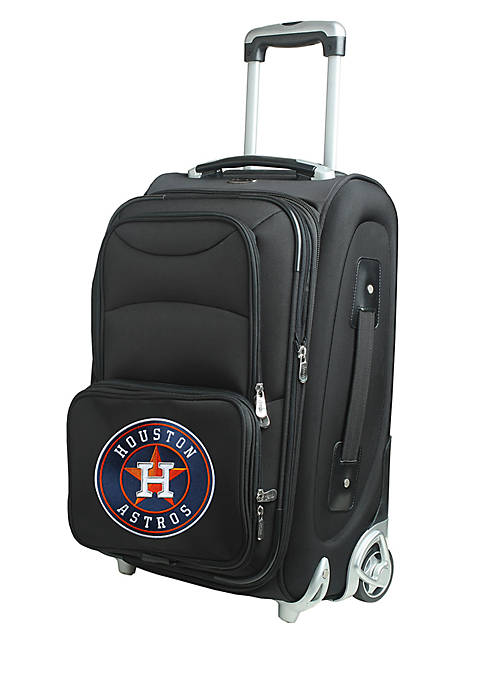 Denco MLB Houston Astros Luggage Carry-On Rolling Softside