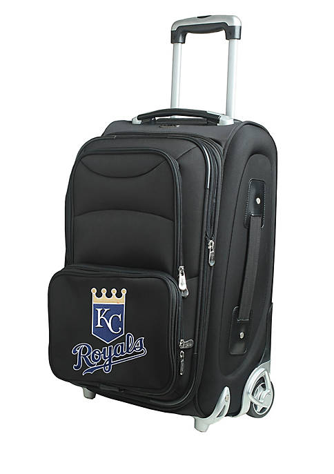 Denco MLB Kansas City Royals Luggage Carry-On Rolling