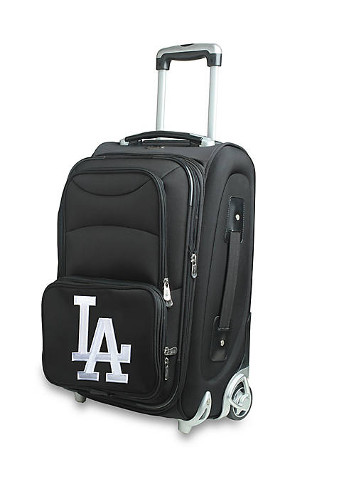 Denco MLB Los Angeles Dodgers Luggage Carry-On Rolling