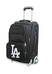 Denco MLB Los Angeles Dodgers  Luggage Carry-On Rolling Softside Nylon Bag