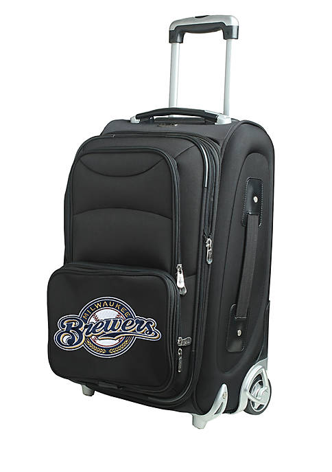 Denco MLB Milwaukee Brewers Luggage Carry-On Rolling Softside