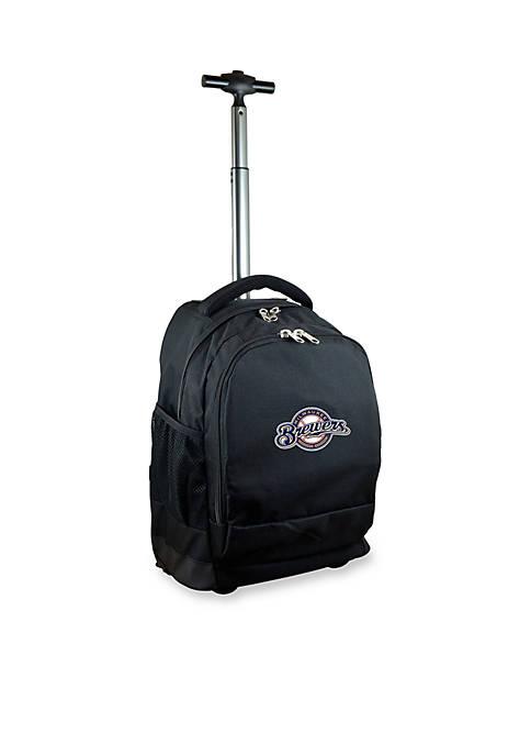 Mojo Milwaukee Brewers Premium Wheeled Backpack
