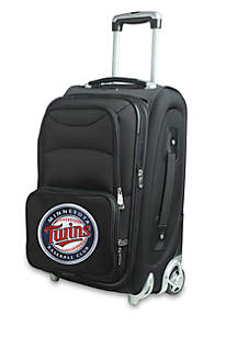 MLB Minnesota Twins Luggage Carry-On 21in Rolling Softside Nylon in Black