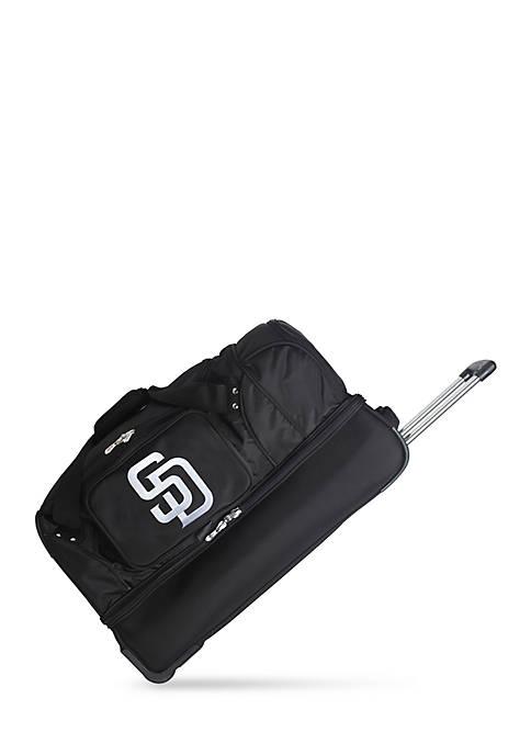 Denco MLB San Diego Padres Wheeled Duffel Nylon