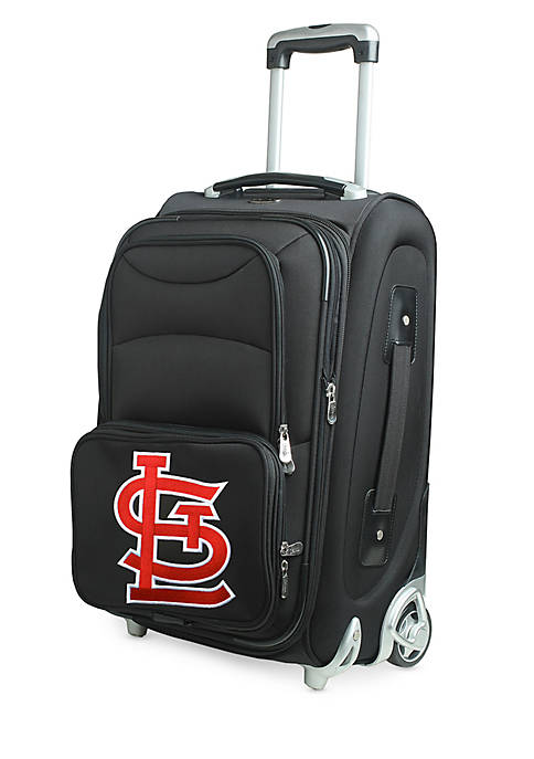 Denco MLB St Louis Cardinals Luggage Rolling Carry-On