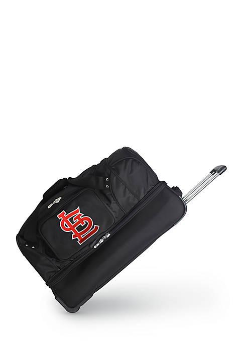 MLB St Louis Cardinals Wheeled Duffel Nylon Bag
