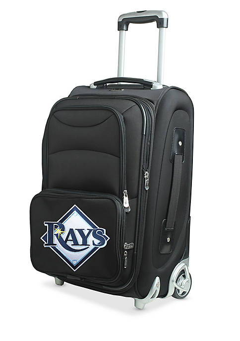 Denco MLB Tampa Bay Rays Luggage Rolling Carry-On