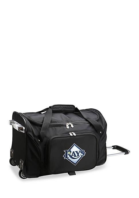 MLB Tampa Bay Rays Wheeled Duffel Nylon Bag