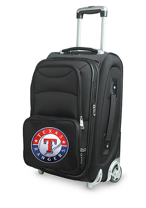 MLB Texas Rangers Luggage Rolling Carry-On