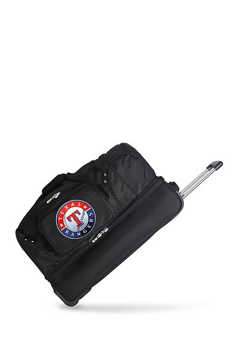 MLB Texas Rangers Wheeled Duffel Nylon Bag