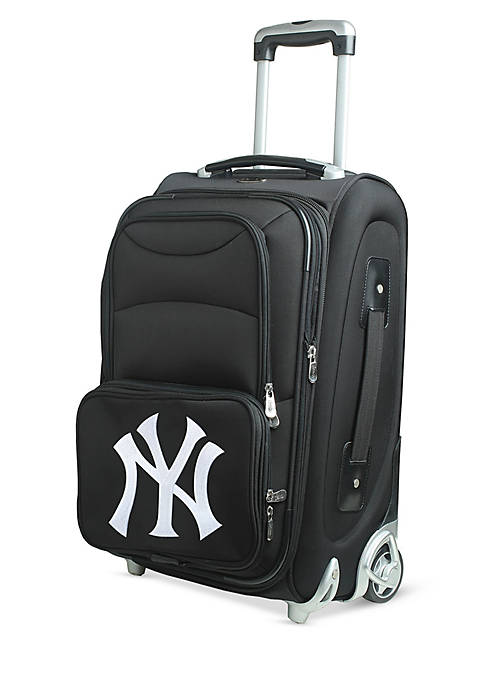 Denco MLB New York Yankees Luggage Rolling Carry-On