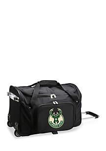 NBA Milwaukee Bucks Wheeled Duffel Nylon Bag