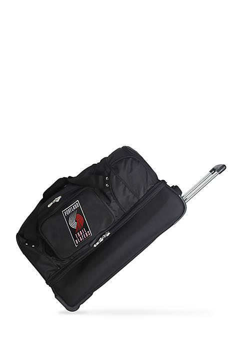 Denco NBA Portland TrailBlazers Wheeled Duffel Nylon Bag