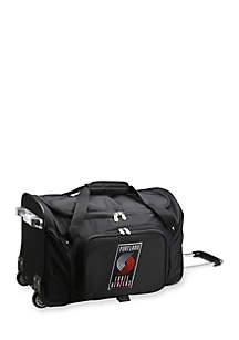 NBA Portland TrailBlazers Wheeled Duffel Nylon Bag