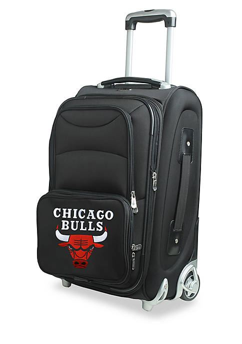 Denco NBA Chicago Bulls Luggage Rolling Carry-On