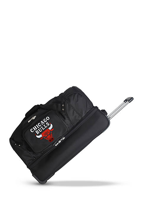 Denco NBA Chicago Bulls Wheeled Duffel Nylon Bag