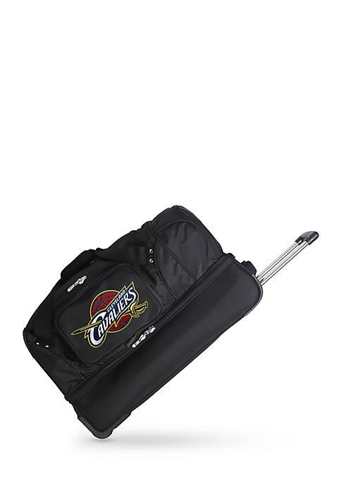 Denco NBA Cleveland Cavaliers Wheeled Duffel Nylon Bag