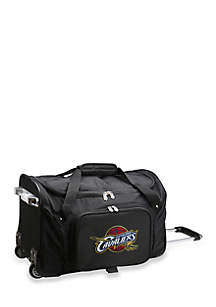 NBA Cleveland Cavaliers 22-in. Wheeled Duffel Nylon Bag in Black