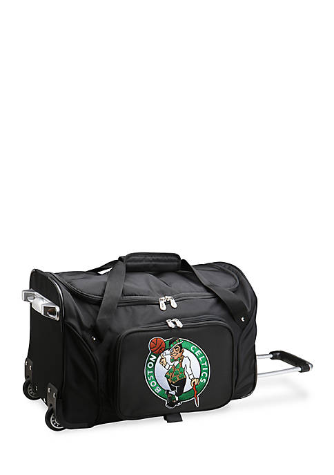 Denco NBA Boston Celtics Wheeled Duffel Nylon Bag