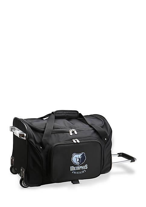 NBA Memphis Grizzlies Wheeled Duffel Nylon Bag