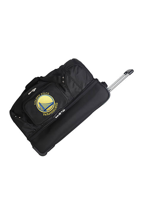 Denco NBA Golden State Warriors Wheeled Duffel Nylon