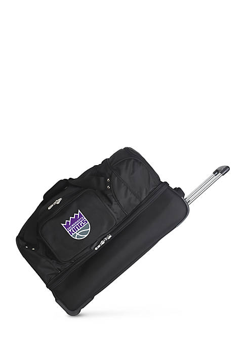 Denco NBA Sacramento Kings Wheeled Duffel Nylon Bag