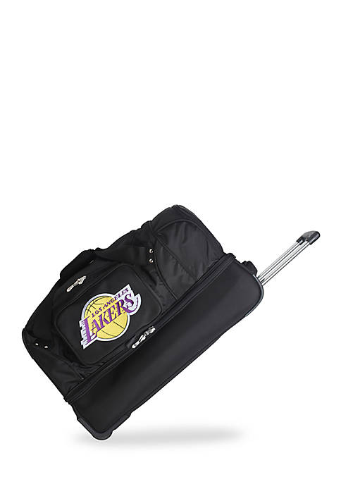 Denco NBA Los Angeles Lakers Wheeled Duffel Nylon