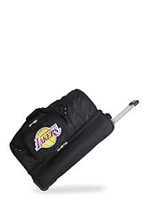 Denco NBA Los Angeles Lakers Wheeled Duffel Nylon Bag