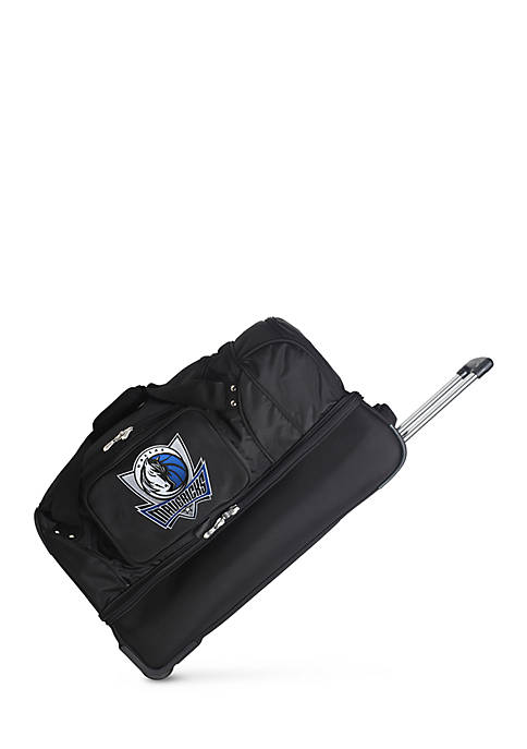Denco NBA Dallas Mavericks Wheeled Duffel Nylon Bag