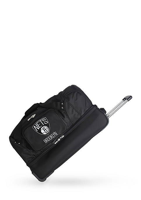 Denco NBA Brooklyn Nets 27-in. Wheeled Duffel Nylon