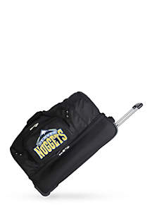 Denco NBA Denver Nuggets 27-in. Wheeled Duffel Nylon bag in Black