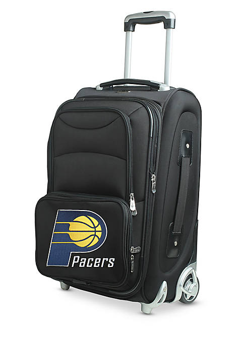 NBA Indiana Pacers Luggage Carry-On 21-in. Rolling Softside Nylon in Black